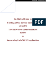 End to End OData Service SAPUI5 Application