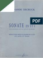 Decruck, Sonata Ut#