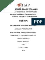 Trabajo de Programa de Auditoria