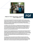 """Indigenous Women of the Americas – Defending Mother Earth Treaty Compact 2015"""