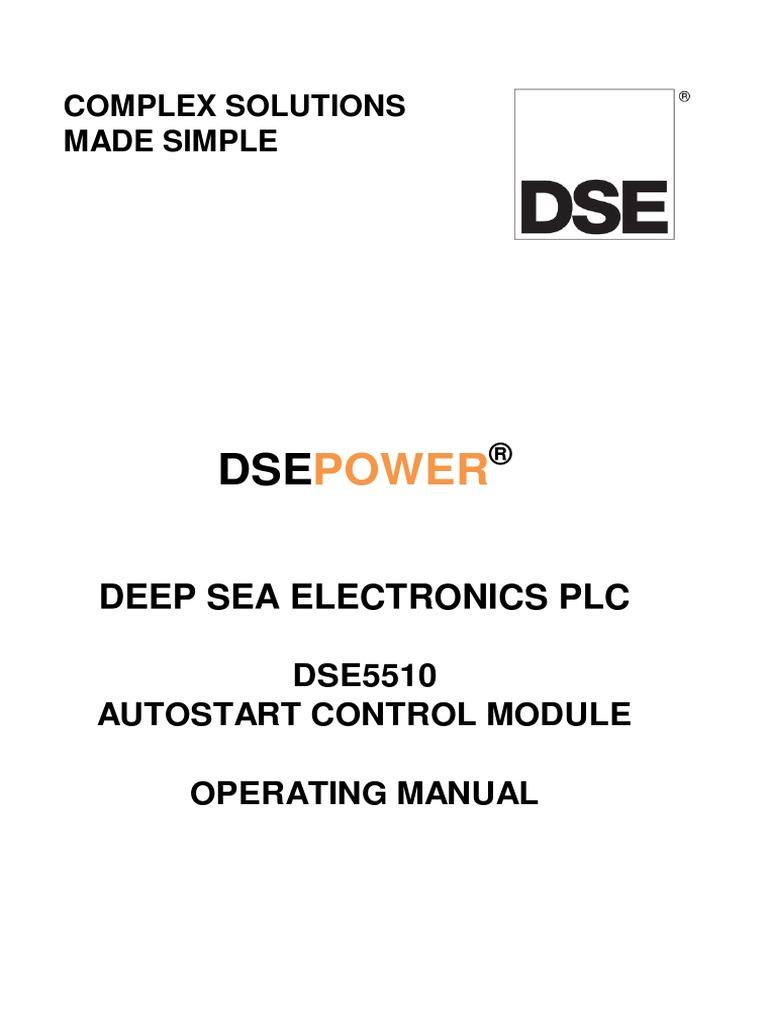dse5510 operators manual instrumentation timer rh scribd com Database User Manual Software for Creating User Manuals