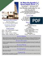 St. Peter the Apostle Bulletin 1-3-16