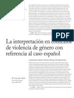 La Interpretación en Contextos de Violencia de Género Con Referencia Al Caso Español