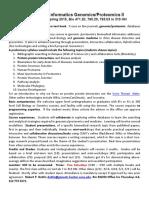 BioMedical Informatics Proteomics Syllabus 2 S2015