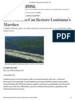 How Markets Can Restore Louisiana¹s Marshes - WSJ[11]
