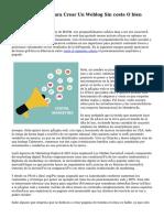 diez Plataformas Para Crear Un Weblog Sin coste O bien Una Página Web