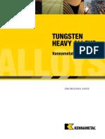 Tungsten Heavy Alloys - Kennametal