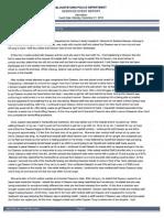 Barbara  Dawson Case Report (Blountstown Police Department)
