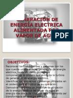 GENERACIÓN DE ENERGÍA ELECTRICA ALIMENTADA POR VAPOR DE AGUA