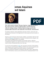 Why Thomas Aquinas Distrusted Islam