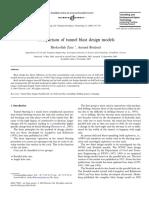 Comparison of Tunnel Blast Design Models