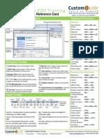 Dreamweaver Quick Reference Cs3