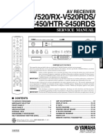 Yamaha Rx-V520 Rx-V520rds Htr-5450 Htr-5450rds [ET]
