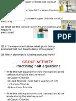 Electrolysis of Lead Bromide and Brine