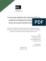 Conocimiento didáctico del contenido. estudio de caso