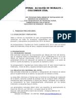 Especificaciones Tecnicas Obras de Acueducto-urb. Villa Sofia