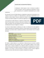Naturaleza del Analisis Financiero