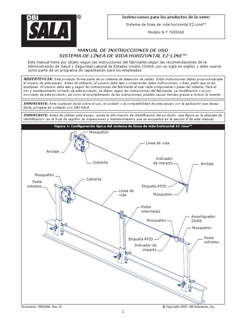 Manual de Instrucciones de Uso de Sistema de Linea de Vida