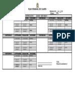 Formato de Plan Semanal