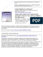 Urban Governance and Regeneration Polici