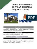 II Irt Internacional Sub-2200 Villa de Xabia 2016