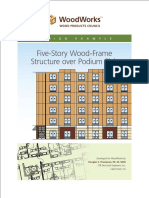 5 Story Wood Frame Structure Over Podium Slab Design Example