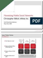 Monetizing Mobile Social Networks