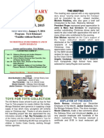 Moraga Rotary Newsletter Dec. 15, 2015