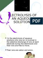 6.3 (a) Electrolysis of an Aqueous Solution