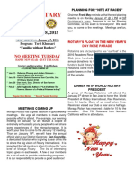 Moraga Rotary Newsletter Dec. 28 2015