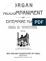 Whiting-Organ Accompaniment and Extempore Playing