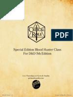 Blood Hunter Class 1.1