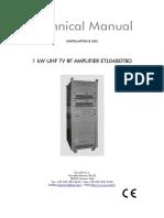 Eurotel 1kw Uhf Etl0480tbd