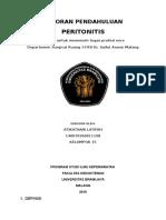 Laporan Pjbl 1 Pertonitis