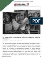 La Maravillosa Dictadura Del Capital (II) Nuestrxs Muertxs Tienen Voz _ SubVersiones