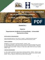 Jornadas de Historia de La Antigüedad Tardía - 1er Circular