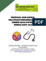 Proposal Dan Jadwal Pelatihan Rumah Sakit 2016 - Centra Mandiri Traco
