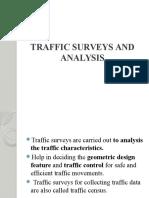 Traffic Surveys and Analysis