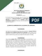 Proyecto Acuerdo Urbanismo