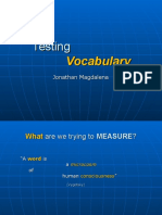 Testingvocabulary - for reference