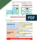 Describing Plasmolysis & Deplasmolysis