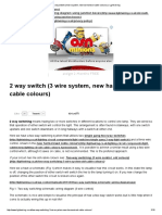 2 Way Switch (3 Wire System, New Harmonised Cable Colours) _ Light Wiring