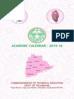 Academic Calender Diploma 2015 2016