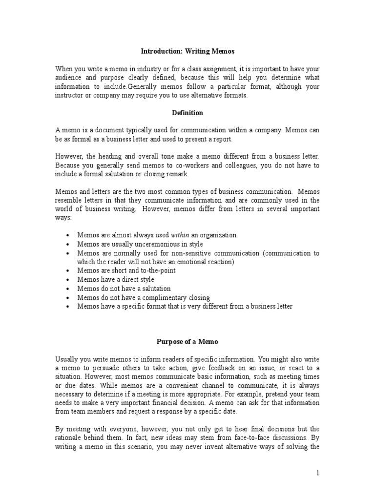 what is memorandum in business communication