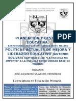 Politicas Actuales Bolivar