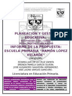 Informe de Propuesta Ramon Lopez Velarde