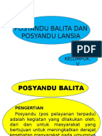 Ppt. Posyandu Balita Dan Posyandu Lansia