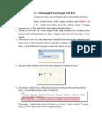 memanggil form dalam form dengan edit teks