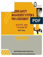 Modern Safety Management System & Risk Assessmentrisk Assessment Mix