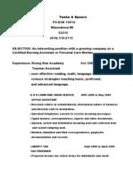 Jobswire.com Resume of spearstasha10